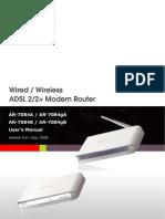 AR 7084GA Manual