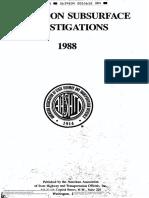 3-Subsurface Investigations AASHTO 1988