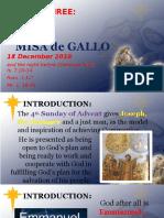 Day 3 - Misa de Gallo 2016 Homily