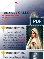 Day 5 - Misa de Gallo 2016 Homily