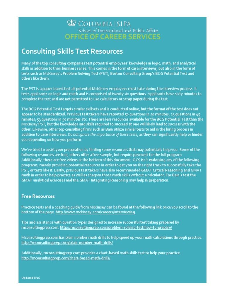 Test Resources   Graduate Management Admission Test   Case Study