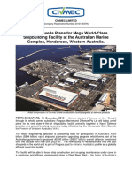 Civmec Unveils Plans for Mega World-Class Shipbuilding Facility at the Australian Marine Complex, Henderson, Western Australia