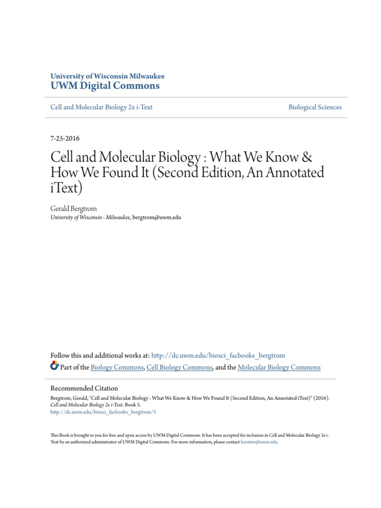 Cell and Molecular Biology _ What We Know & How We Found It