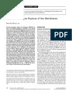 Preterm Premature Rupture of Membrane