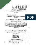 De Lapide Philosophico Tractatus Gemini (1604)