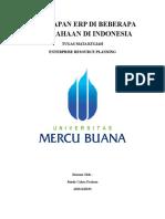 Penerapan Erp Di Beberapa Perusahaan Di Indonesia