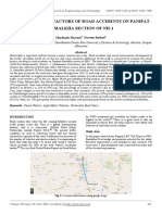 Study of Causal Factors of Road Accidents on Panipat-samalkha Section of Nh-1