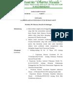 Surat Keputusan Pemberlakuan Pedoman Etik Rumah Sakit