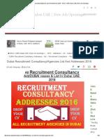 Dubai Recruitment Consultancy_Agencies List and Addresses 2016 - DAILY JOBS Dubai UAE _ New Job Openings