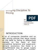 Bringing Discipline to Pricing