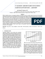 Cfd Analysis of Car Body Aerodynamics Including Effect of Passive Flow Devices – a Review