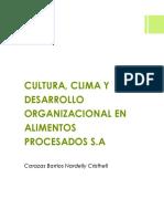 Cultura Clima y Desarrollo Organizacional de Alprosa