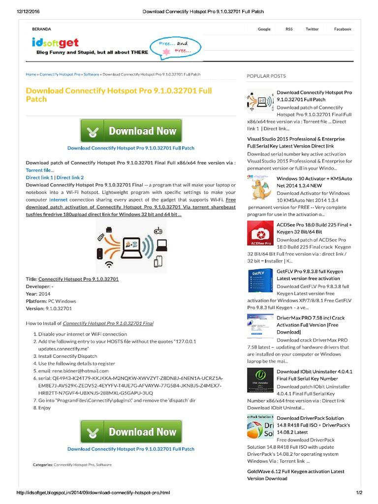 connectify hotspot pro latest version