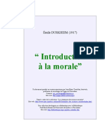 Durkheim Intro Morale