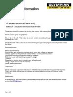 OLYMPAIN BULLETIN-Leroy Somer Alternator Diode Trouble Shouting Manual