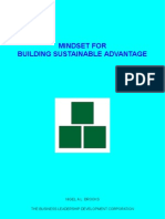 Mindset For Building Sustainable Advantage