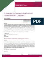 Comentarios sobre GPLv3