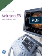 GE Voluson E8 Ultrahang - Prospektus