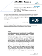 Construction of a Questionnaire Measuring Outpatients' Opinion Of