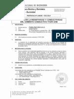 Certificado de Resistividad