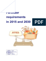 Fertilizer requirements in 2015 and 2030