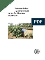 Tendencias mundiales actuales y perspectivas de los fertilizantes 2009