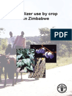 Fertilizer use by crop in Zimbabwe
