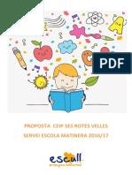 Projecte Escull Solidari - Escola Matinera Ses Rotes Velles