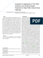Evaluation of Application of Thin HMA Overlay on the Existing Flexible Pavement for High-Traffic-Volume Rural Highways