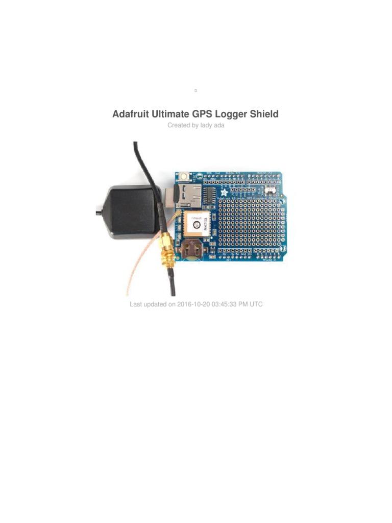 Adafruit GPS Antenna External Active Antenna with SMA to u.FL Cable Assembly