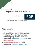 Sifat Air Dan Temperatur