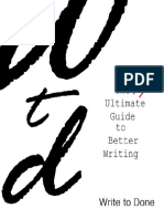 The Nearly Ultimate Guide to Better Writing 1