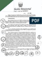 RM N 627-2016-MINEDU