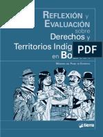 Reflexión y Evaluación sobre derechos y territorios indigenas en Bolivia
