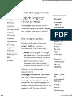 English Language Requirements - NTNU
