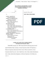 B/E Aerospace v Zodiac Aerospace - Complaint