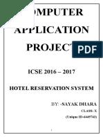 Computer Board Project 2017(icse)