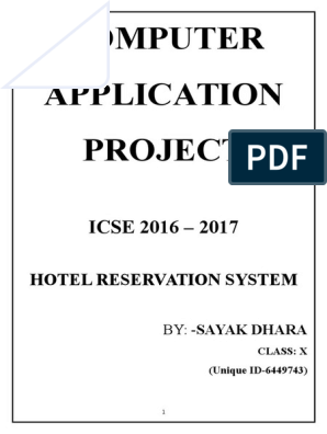 Computer Board Project 2017(icse) | Bed | Data Type
