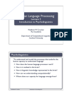 human language processing