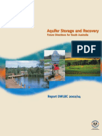 Aquifer Storage and Recovery - Future Directions for South Australia