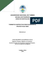 Formato e Instructivo Elaboración Tesis