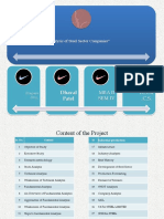 fundamental analysys of steel sector companies
