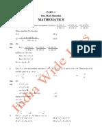 KVPY 2011 Stream SA Solved Paper