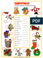 Christmas Unscramble the Words Esl Vocabulary Worksheet