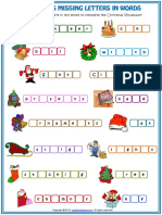 Christmas Vocabulary Missing Letters in Words Esl Worksheet