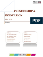 Entrepreneurship and Innovation Notes 2016