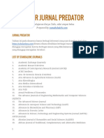 Daftar Jurnal Predator