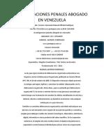 Investigaciones Penales Abogado en Venezuela