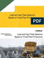 Fleet Selection Based on Target Production (Caterpillar)
