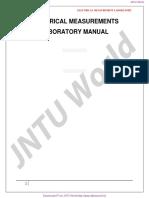 Electrical Measurement Lab Manual